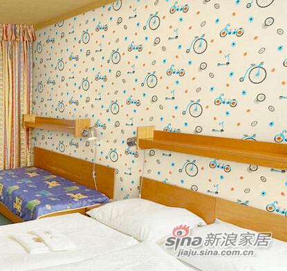 无纺布墙纸儿童卧室-1