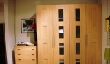 意风卧室家具1001A+1007A四门衣柜