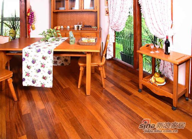 得高karelia三层实木地板 双拼玛宝木