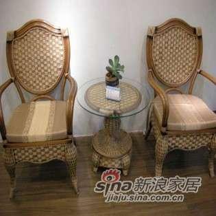 凰家御器藤椅藤家具三件套休闲椅阳台椅NH-A054-0