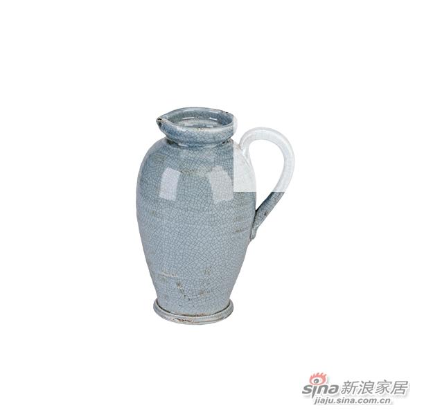 Carolina单耳裂变釉陶瓷花瓶-1
