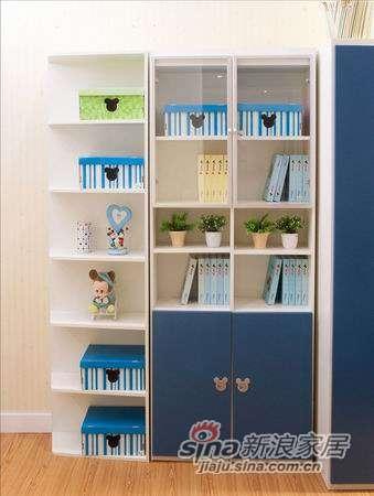 迪士尼儿童彩色家具-美式米奇二格书柜-0