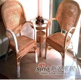 凰家御器藤椅藤家具三件套休闲椅阳台椅NH-A036-0