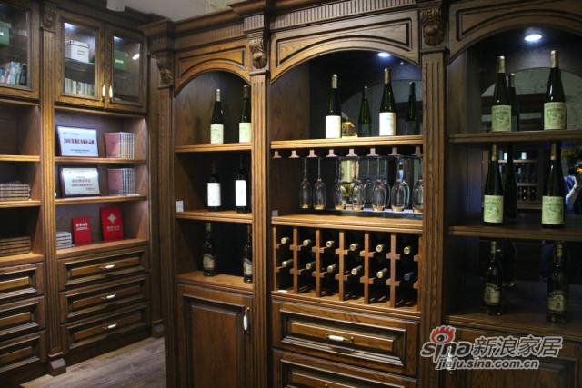 实木酒柜-1