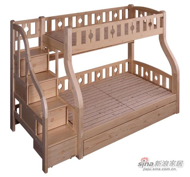 松堡王国实木高低床-3