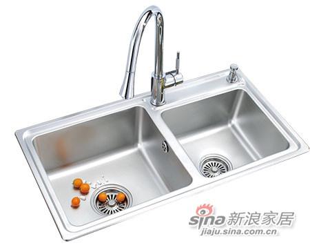 933-064不锈钢水槽(双槽)