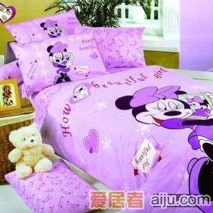 家元素床上用品漂亮米妮三件套(纯棉)TQ1800001