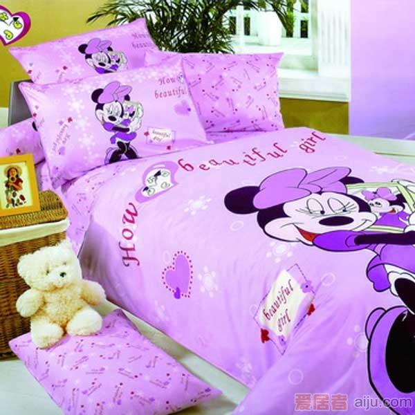 家元素床上用品-漂亮米妮三件套(纯棉)-TQ18000011