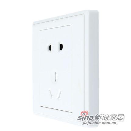 欧普专柜正品 86型电工面板墙壁开关插座-0