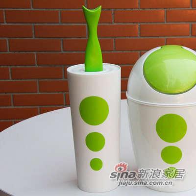 多样屋 TAYOHYA Dots系列 塑料马桶刷-绿