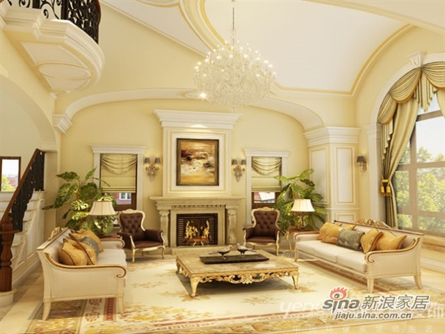 绥芬河海关别墅-320㎡-新古典风格