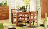 华日家居全实木一桌四椅