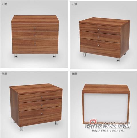 红苹果现代简约床头柜-1