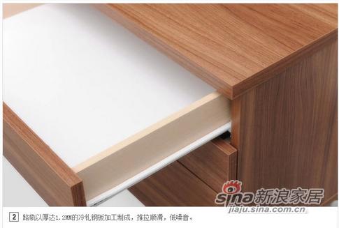 红苹果现代简约床头柜-3