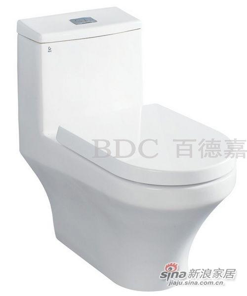 百德嘉陶瓷件连体座便器-H331103-0