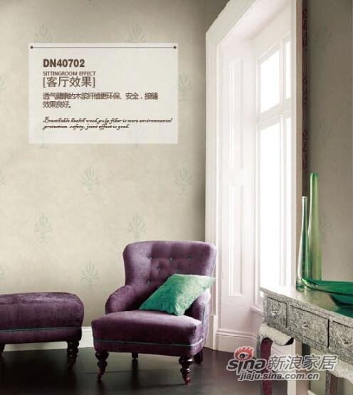 柔然壁纸 欧式新古典复古环保木浆纤维美国纯进口墙纸-2