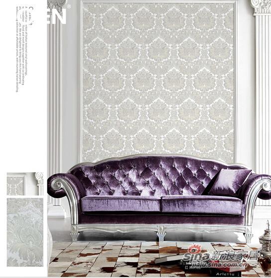 柔然壁纸 大马士革高级树脂压花纹理3D立体背景墙纸-0