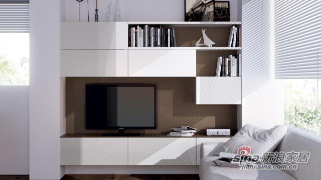 入墙式电视柜 多功能储物柜-0