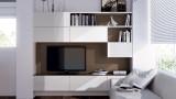 入墙式电视柜 多功能储物柜