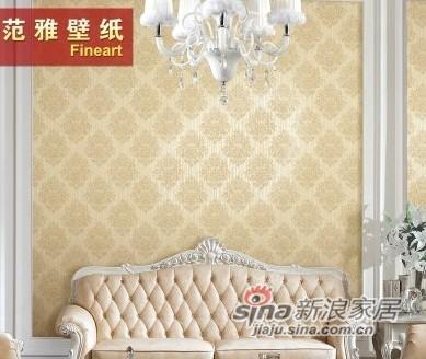 范雅壁纸无纺纸壁纸卧室客厅电视背景墙纸欧式大马士革欧雅5D15