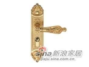 雅洁AS2051-C2016-92中锁英文抛铜锁体+70英文抛铜锁胆-0