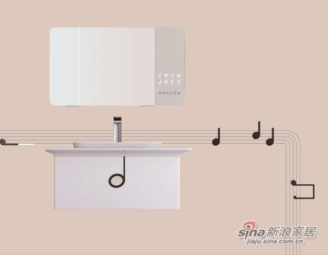 箭牌卫浴曲谱系列浴室柜