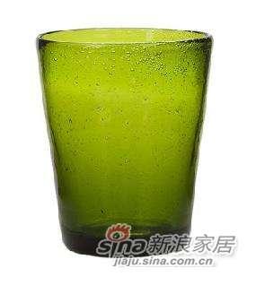harbor house 绿色玻璃气泡杯(小)-4件装 -0