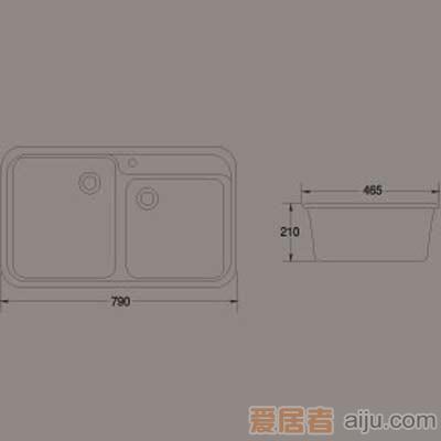 惠达洗涤槽-HD3双方槽2