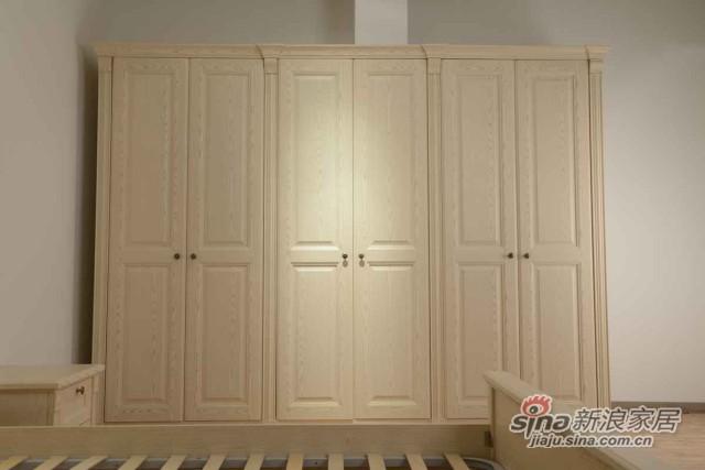 包柱整体衣柜定制 进口PP覆膜6门衣柜-0