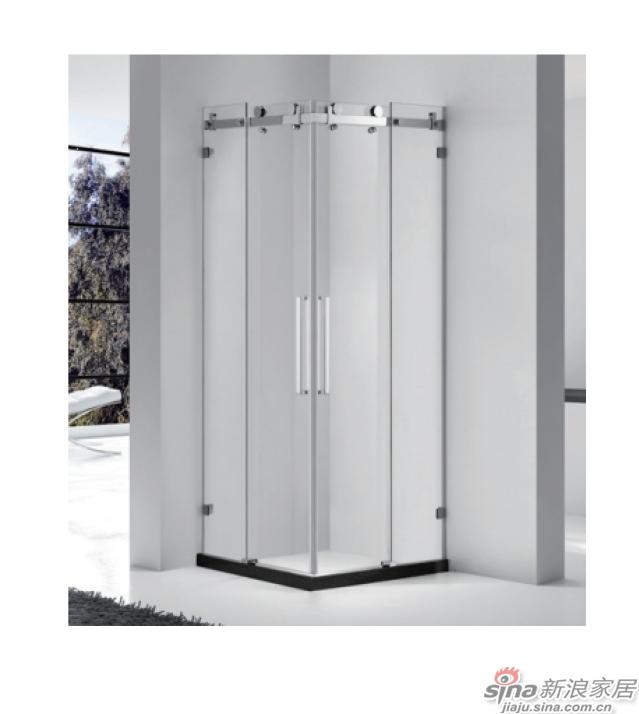 SH2-3234F方形二固一移沐浴房(不锈钢)