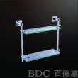 百德嘉五金龙头挂件-H632006双层玻璃架