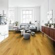 安信橡胶木实木复古地板