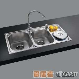 GORLDE优质不锈钢水槽/洗菜池 环保星系列HBS-3#(大小盆)