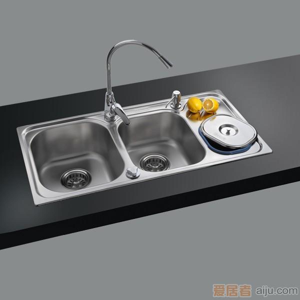 GORLDE优质不锈钢水槽/洗菜池 环保星系列HBS-3#(大小盆)1
