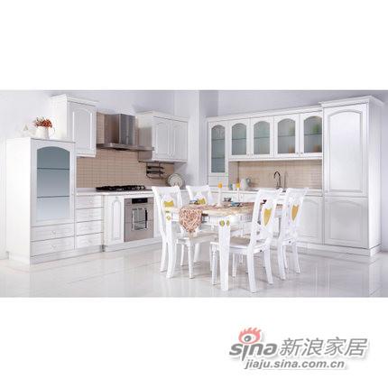 德意丽博橱柜 整体厨房 欧式膜压橱柜-0