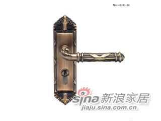 雅洁AS2051-HB282-36中锁英文镍锁体+英文70青古铜锁胆-0