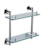 华艺卫浴D29082 双层玻璃置物架