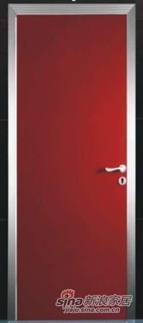 罗兰木门红色闪光U01