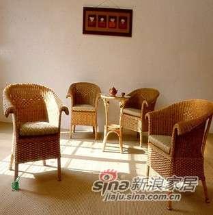 凰家御器藤椅藤家具三件套休闲椅阳台椅NH-A008-0
