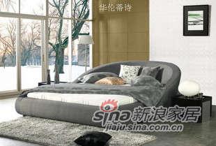 华伦蒂诗布艺软床双人床C866B -0