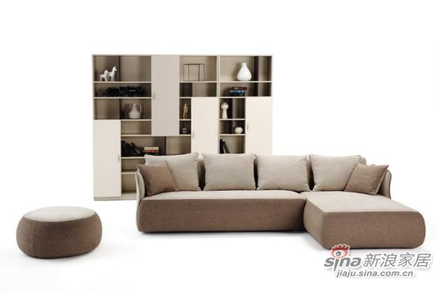 曲美家具 创意休闲沙发-1