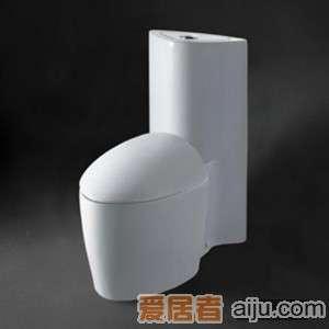 惠达-冲落式连体座便器-C170(木质便盖)1