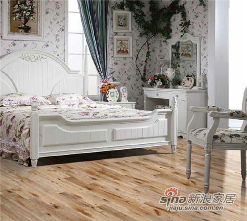 安信橡木浮雕复古白桂色实木地板