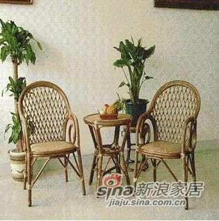 凰家御器月明组合藤椅藤家具三件套休闲椅阳台椅NH-A024-0