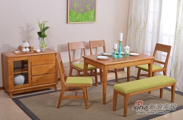 简约现代实木餐桌-1