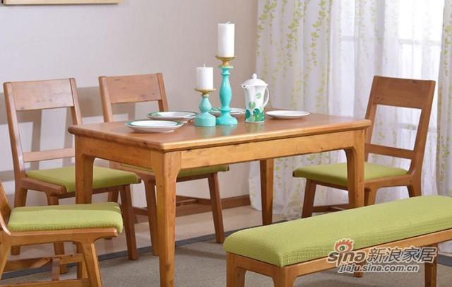 简约现代实木餐桌-2