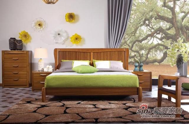 好风景水清木韵卧室系列床-1