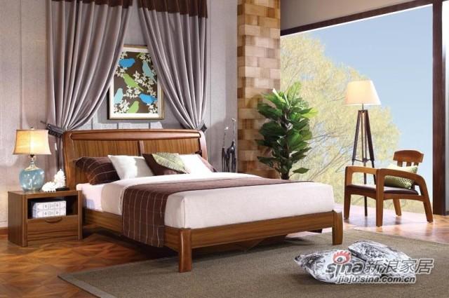 好风景水清木韵卧室系列床-3