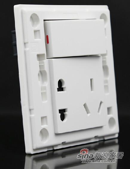 西门子一开五孔插座面板-0