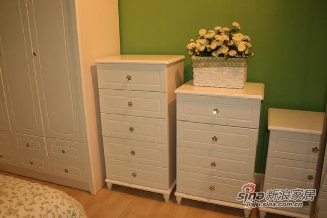 【新干线】板木奶白色/米黄色斗柜桶柜抽屉柜储物柜-0